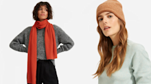 Everlane's cashmere accessories are here- just in time for winter