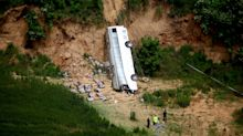 At least 12 dead as bus plunges 90 meters off Mexican roadside