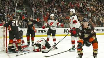 Devils score 3 own goals in 6-5 shootout loss