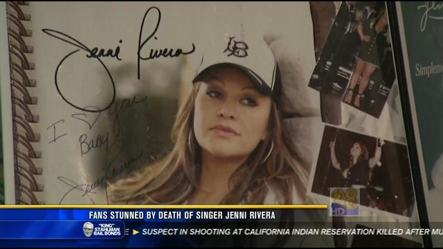 Fans stunned by death of singer Jenni Rivera
