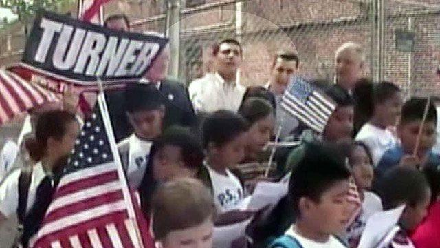 Kids heckled during patriotic rally