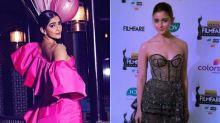 64TH Filmfare Awards 2019: Sonam Kapoor Is In 'Pink' Of Health, Quite Literally! Alia Bhatt Dazzles In Black