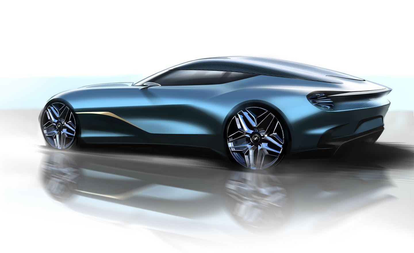 """<p>Although obviously more figurative than literal at present, these sketches suggest that the finished DBS Zagato will play hard on many of the themes of previous Astons named Zagato. The most obvious of these is the """"double bubble"""" roof, which these renderings suggest will be made from unpainted carbon.</p>"""