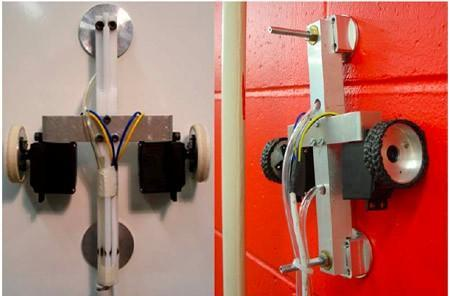 Climbing robot can scale walls on a supersonic stream of air, won't leave fingerprints behind