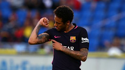 VIDEO: Neymar, Aguero and other aces attempt football tennis