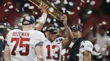 Alabama football players get national championship rings, troll UCF on Twitter