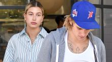 Hailey Baldwin Wears Bold Shirt Dress Look for Breakfast With Justin Bieber: Pics!