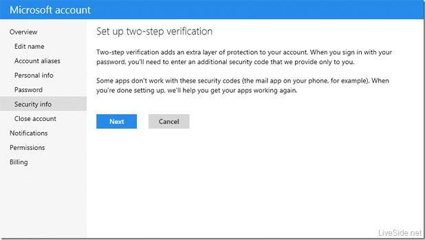 Microsoft leak details plans for two-step authentication process