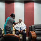 Gabon's Bongo finds new pep on the campaign trail