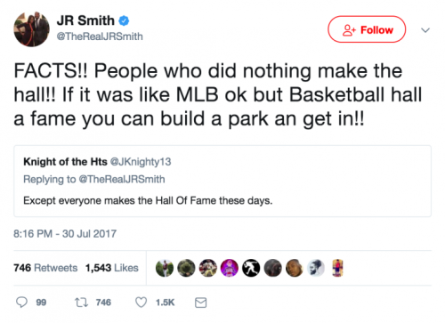 J.R. Smith believes