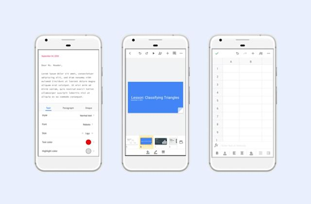 Google gives its Android office apps a fresher, more consistent look