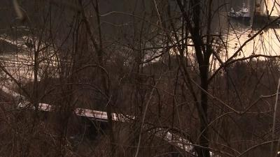 Neighbors Come Out to See NY Train Derailment