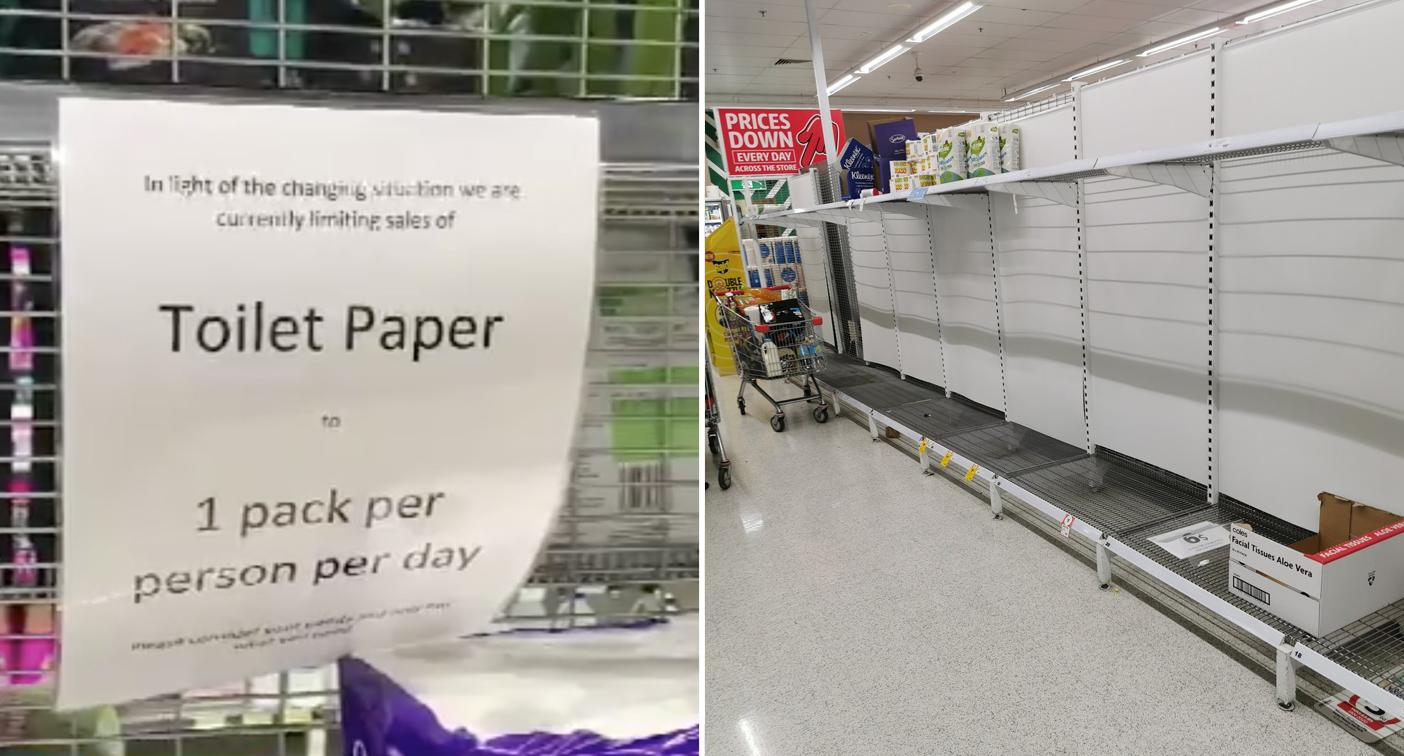 Shelves stripped bare as panic buying hits Adelaide
