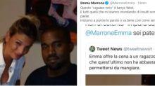 """Emma Marrone insultata per la foto con """"un nero che fame"""". Lei risponde: """"È Kanye West"""""""