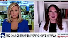 "Fox News host cuts off GOP chair's virtual debate rant: ""Prove"" Trump ""had multiple negative tests"""