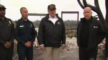 Trump visits SoCal to meet those impacted by fires, Borderline shooting
