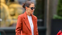 Katie Homles' Mango blazer is the must-have layering piece for fall