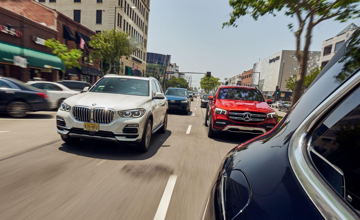 <p>2019 BMW X5 xDrive40i and 2020 Mercedes-Benz GLE450 4Matic</p>