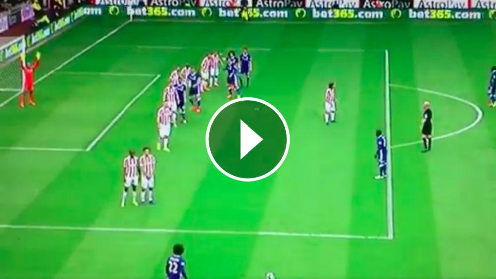 VIDEO: Willian marca un golazo gracias a los consejos de Diego Costa