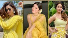 Aamna Sharif, Divya Khosla Kumar, And Hina Khan Show Us The Yellow Power With Their Yellow Outfits