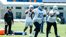 Michael Brockers working with Da'Shawn Hand to get ready for training camp