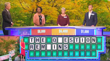 All three 'Wheel of Fortune' contestants struggle to solve super simple puzzle