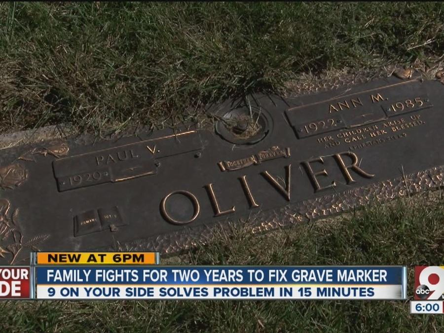 Family finds closure with father's restored grave marker