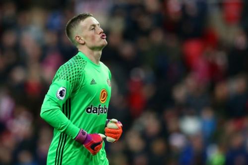 Sunderland keeper Jordan Pickford after making yet another save against Watford