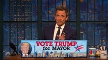 Seth Meyers begs people to vote Trump for NYC mayor