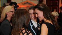 Touching moment the Duchess of Cambridge hugged a tearful mum at a charity event