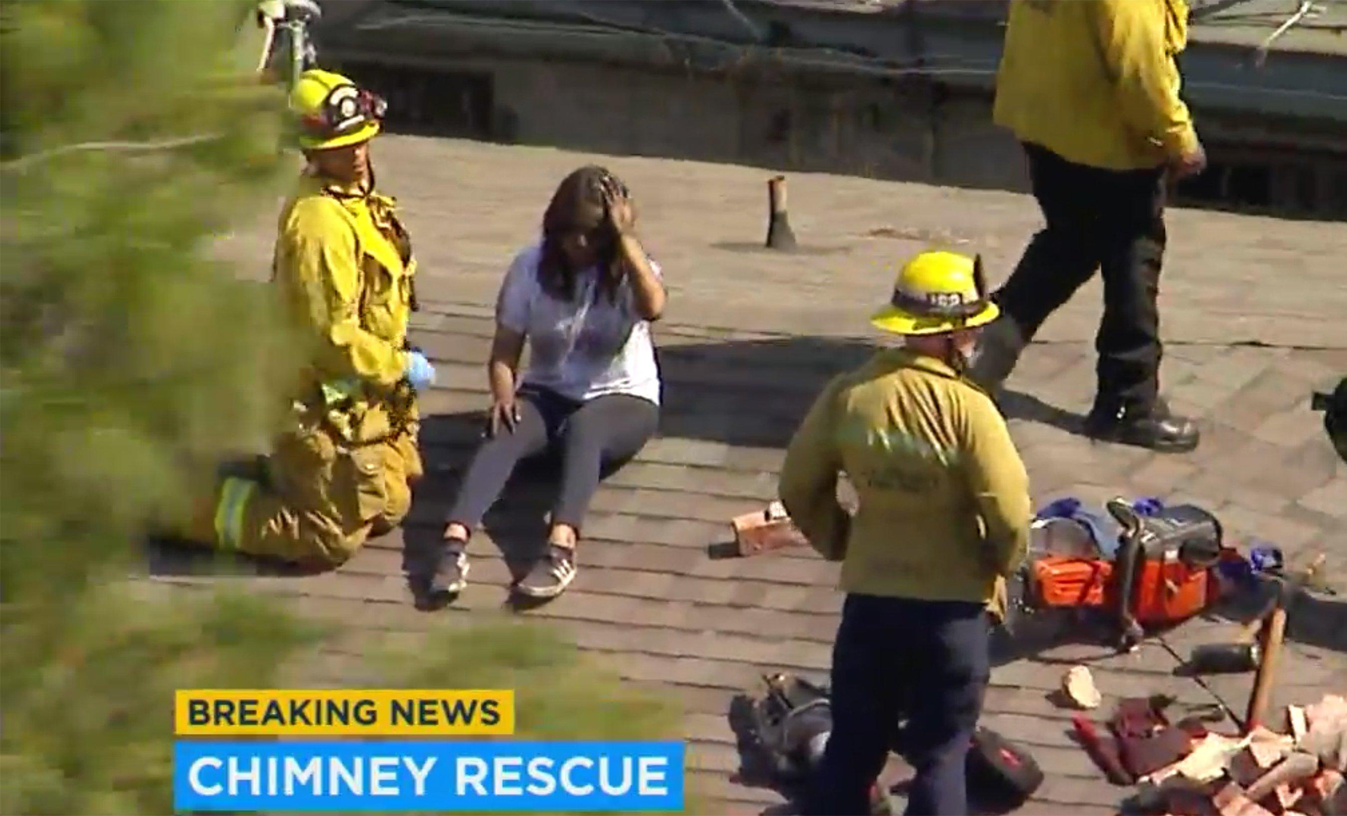 14 Year Old Girl Gets Stuck In Chimney After Locking Herself Out Of Family S California Home