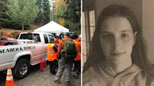 Missing woman found after father and son find ominous message scratched into dirt road
