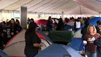 """Twilight"" fans camp out for ""Breaking Dawn, Pt. 2"""