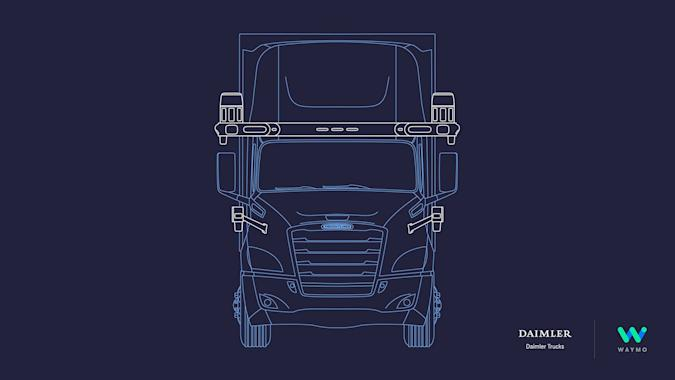 Waymo and Daimler self-driving Freightliner Cascadia truck