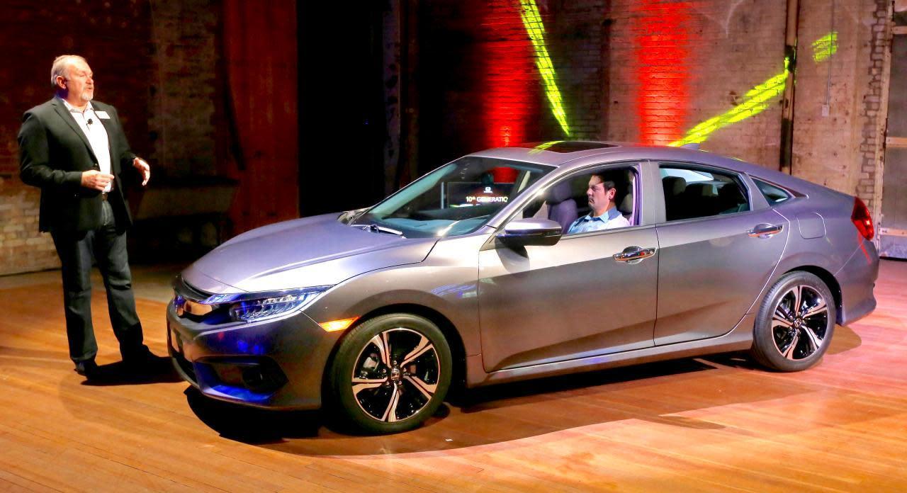 2016 honda civic sedan arrives with turbo ambitions. Black Bedroom Furniture Sets. Home Design Ideas