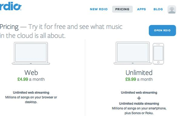 Rdio grows its European presence, hits France and the UK starting at £4.99 per month