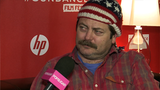 """Video: Nick Offerman on Toy's House and Ron Swanson's """"Terrifying"""" New Turn"""