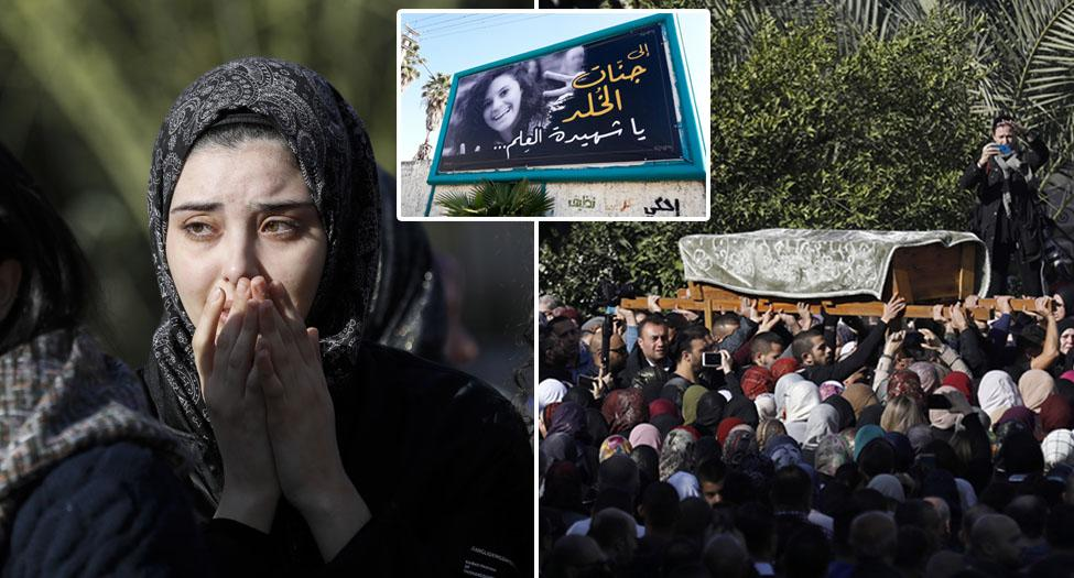 Thousands line the streets for Aya Masarwe's funeral in Israel