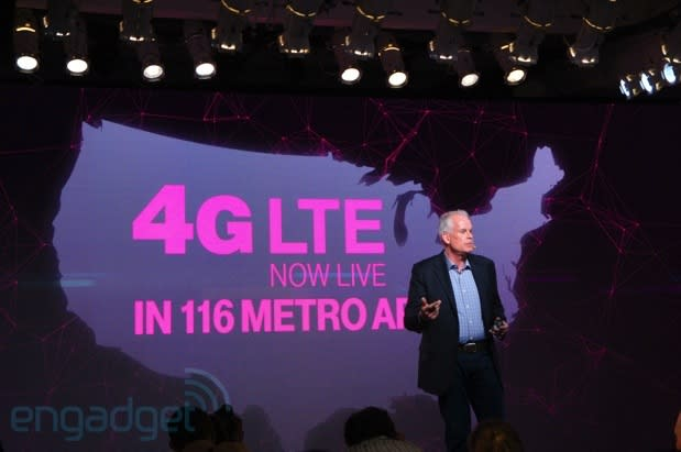T-Mobile's LTE network expanding faster than planned, now covers 116 metro areas