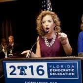 Heckled offstage, Wasserman Schultz now seeks re-election