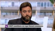 Carl Benjamin claims survivors of sexual assault have thanked him for joking about raping MP Jess Phillips