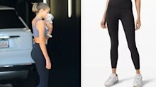 Kaia Gerber's workout gear includes a pair of $98 Lululemon leggings — and a puppy
