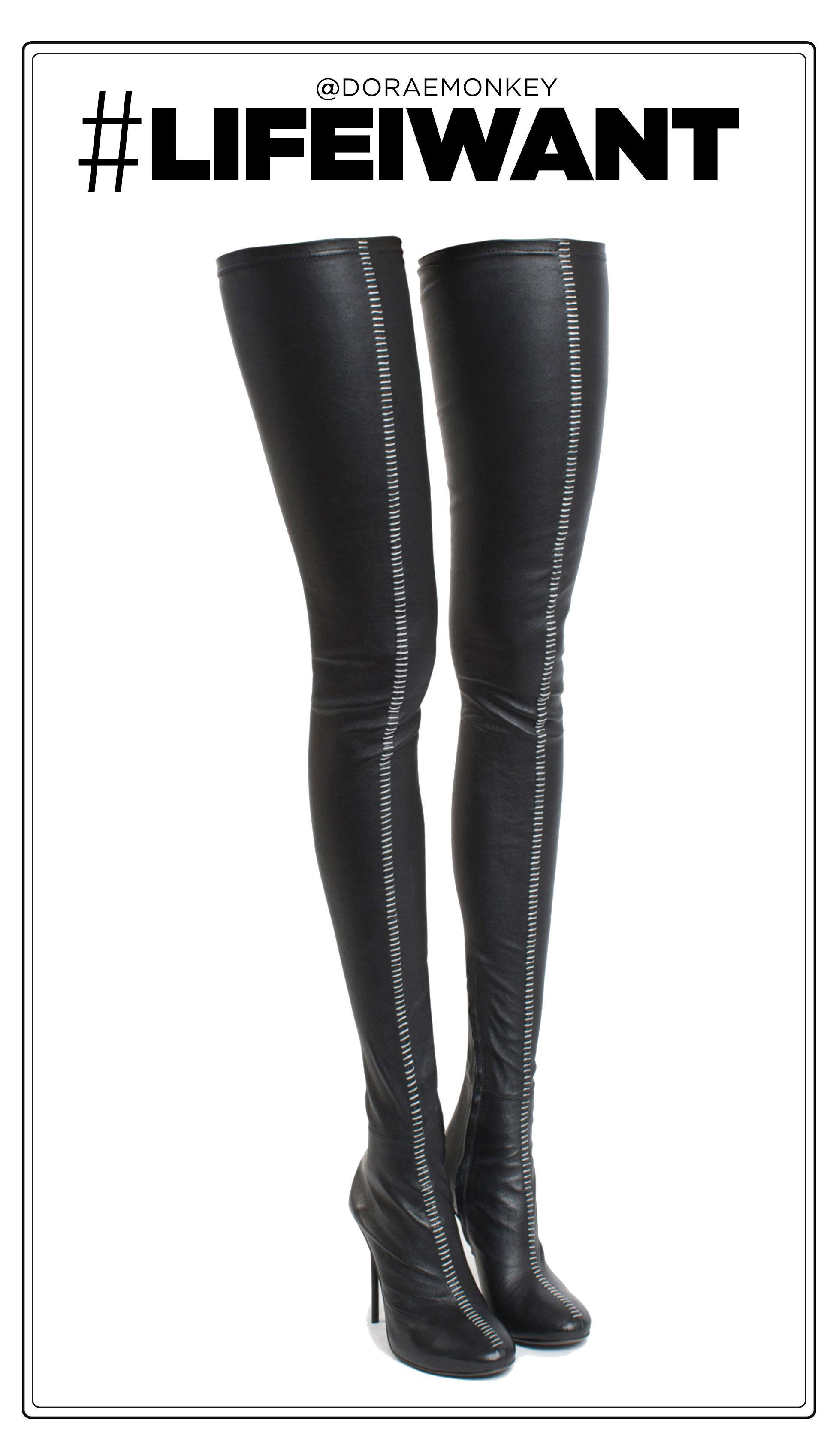 LifeIWant: Haider Ackermann Hand Stitched Thigh-High Boots