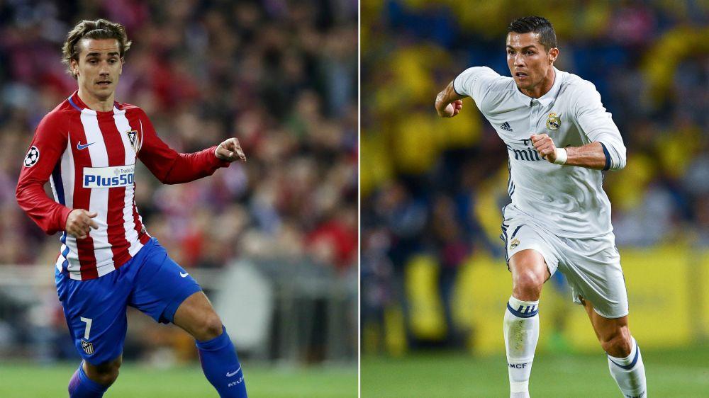 Cristiano-Griezmann, un duelo de poder de fuego en el Bernabéu