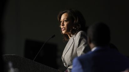 Harris joins impeachment call during Dem town halls