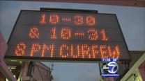 Curfews in place for Halloween night