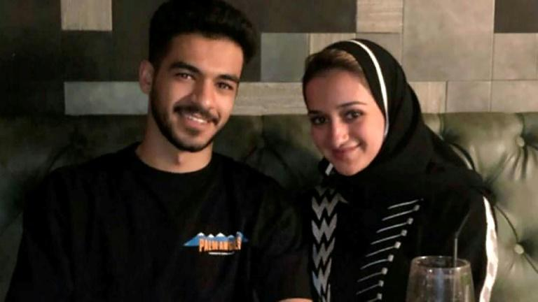 Omar (L) and Sarah Aljabri, the children of the former Saudi intelligence czar Saad Aljabri, shown in a picture released by the family