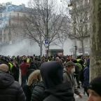 Thousands Fills Parisian Streets in Yellow Vest Protest