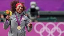 Why Serena danced on the medal stand