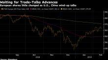 European Shares Steady as Trade Talks Wind Up